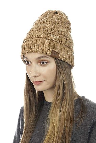 shop CLOIE Womens Girls Winter Knit Hat Beanie Sea Wave Inspired Horizontal Knit  Beanie - Cute e5d1b3ba3