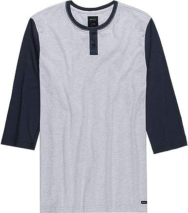 RVCA Pick Up Henley - Camiseta para hombre: Amazon.es: Ropa y accesorios