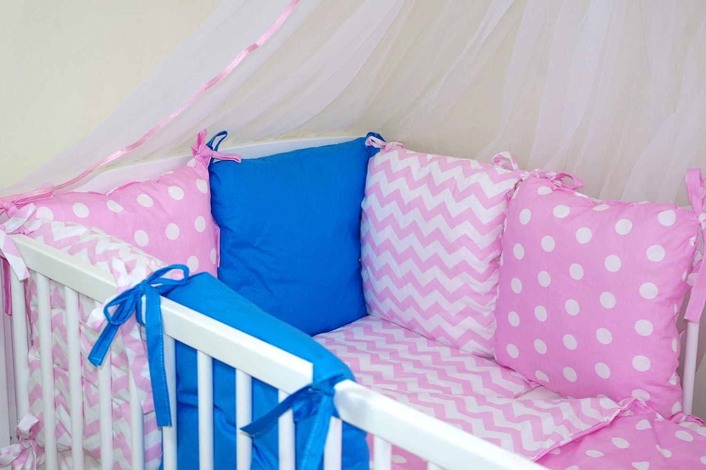 Parure de lit bébé ENSEMBLE DE 10 PIÈCES avec Tour de lit 6 coussins (couleurs 28-54) (35) Baby' s Comfort