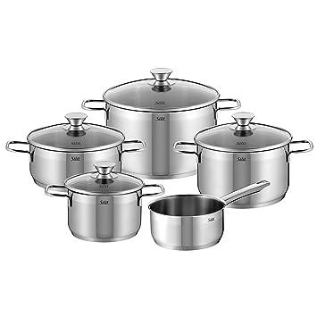 Amazon.com: Silit - Juego de 5 cazuelas de acero inoxidable ...