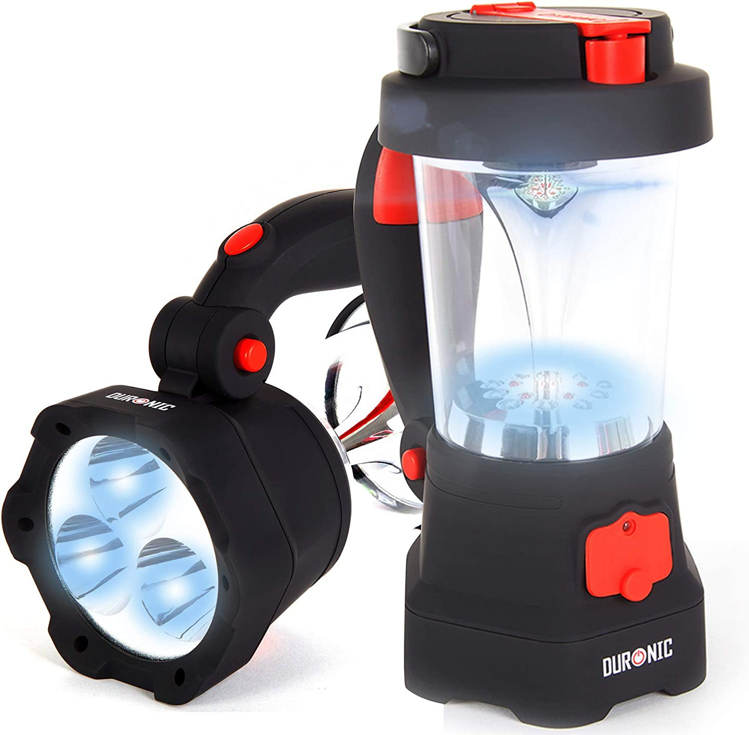 Duronic Hurricane 4 in 1 Rechargeable, Hand Crank, Self-Powered, Dynamo Flashlight, Torch, Lamp, Lantern - USB Charging Function