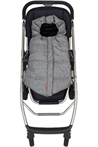 liuliuby Infant Size Original CozyMuff - Weatherproof Footmuff with Temperature Control - Universal Fit for Strollers (Heather Gray)