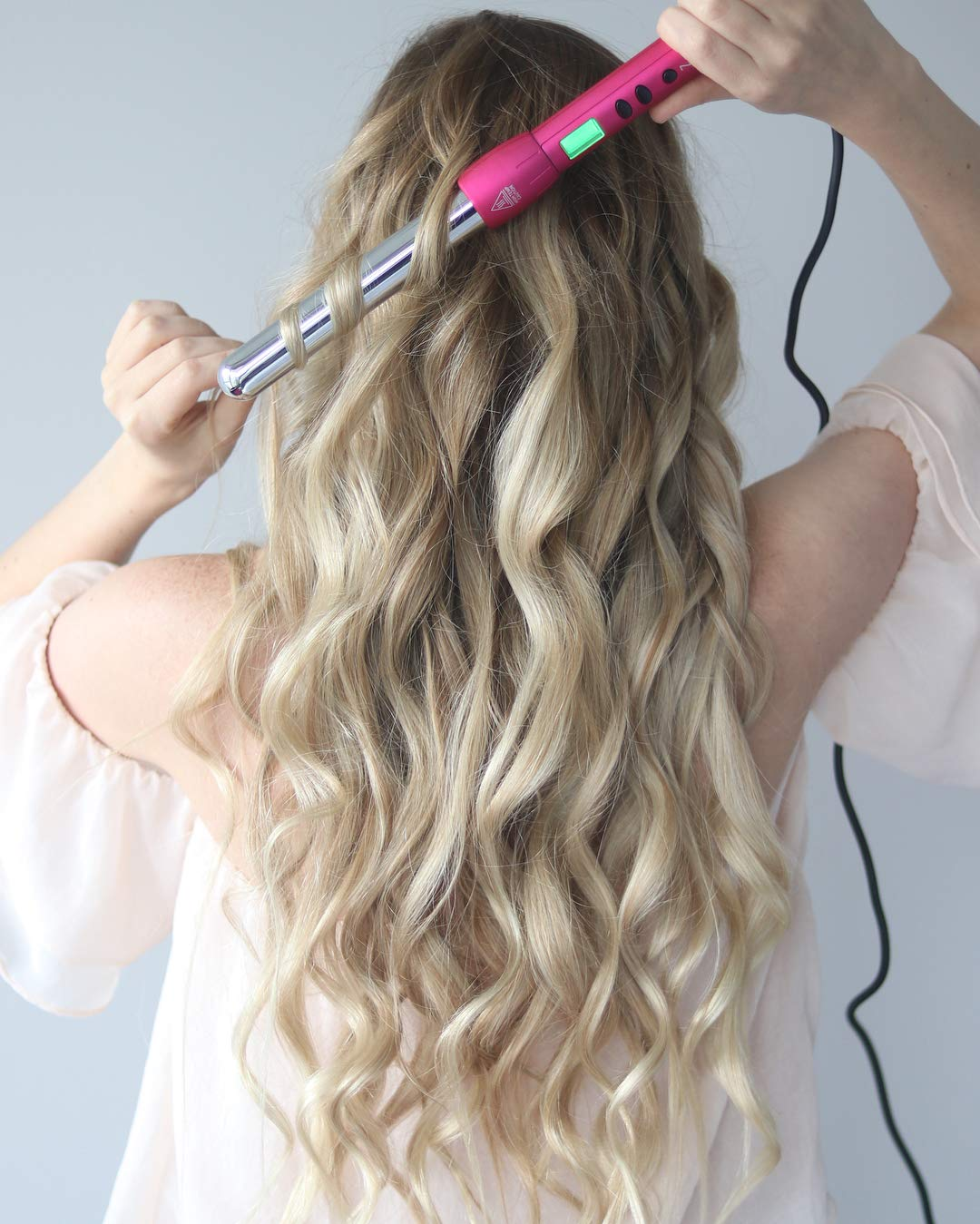 NuMe Magic Curling Wand, 25 mm, pink by NuMe