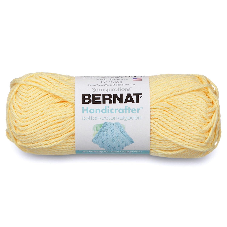 Amazon.com: Bernat Handicrafter Cotton Solids Yarn - (4) Medium ...