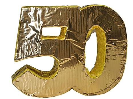 starbakery Decoración Fiesta Oro boda cumpleaños Piñata, 50 ...