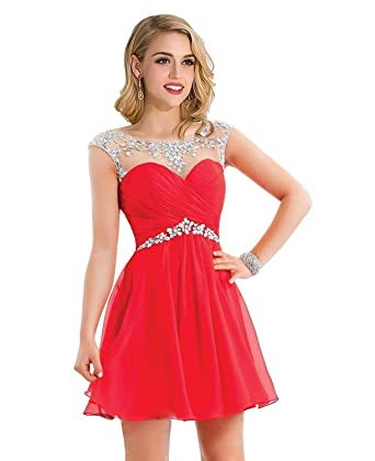 Cute Maxi Dresses for Juniors 2015 Fashion Casual Clothing, Red, Size US 14