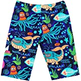 Printed Athletic Jammer Swimsuit with Hat AS ROSE RICH Daddy and Boys Swim Shorts