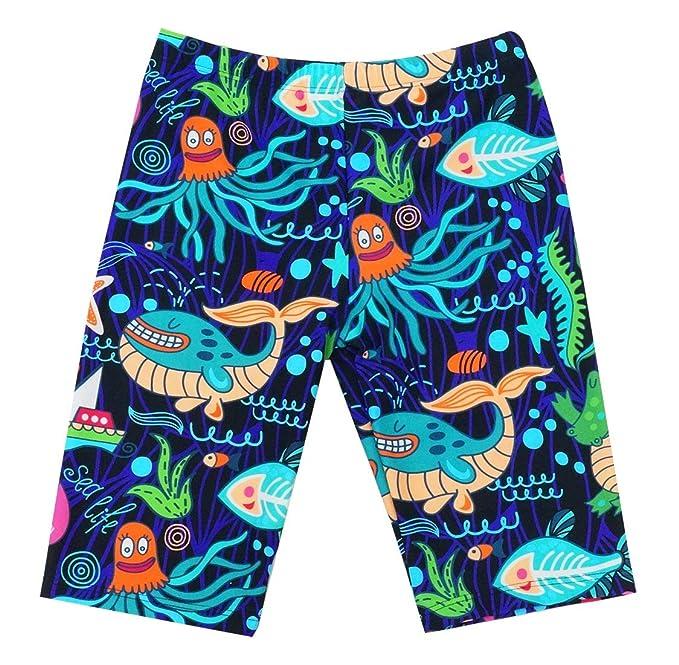 daa8bda820 Aivtalk Toddler Boys Jammer Swimsuit Polka Dots Stars Printed Long Swimming  Trunks 10-12T Blue