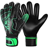 Brace Master Goalie Gloves (Sizes 7-10,5 Styles),Double Wrist Design with Durable 3+3mm Strong Grip and Finger Spines Protect