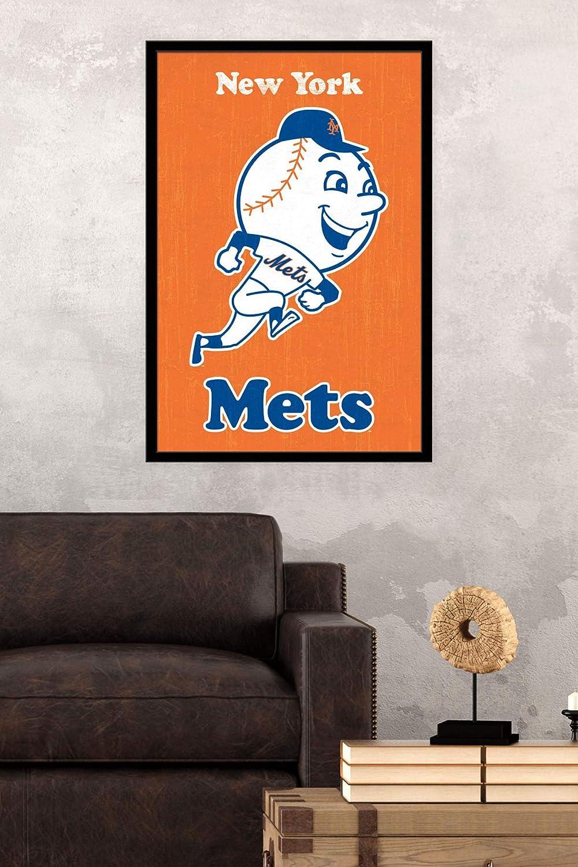 Trends International New York Mets Multi Retro Logo Wall Poster