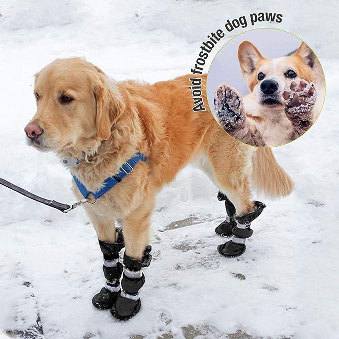 PetPhindU Hundesocken Schuhe Weiche Sohle Paw Schutz wasserdichte Stiefel Reflective Schuhe Nonslip Haltbare Stiefel Schuhe f/ür Gro/ße Hunde