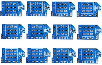 amazon com 12 pcs 3pdt wiring stomp footswitch pcb board musical rh amazon com Limit Switch Wiring UPS Bypass Switch Wiring Diagram