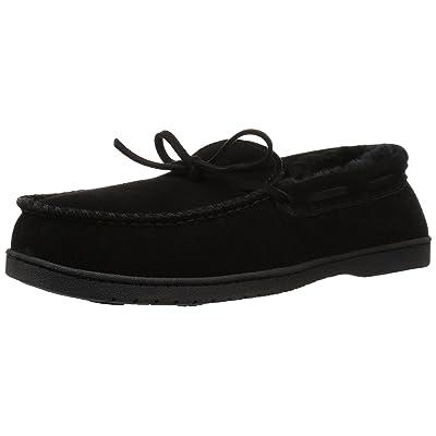 Dearfoams Men's Suede Moccasin Slipper | Slippers