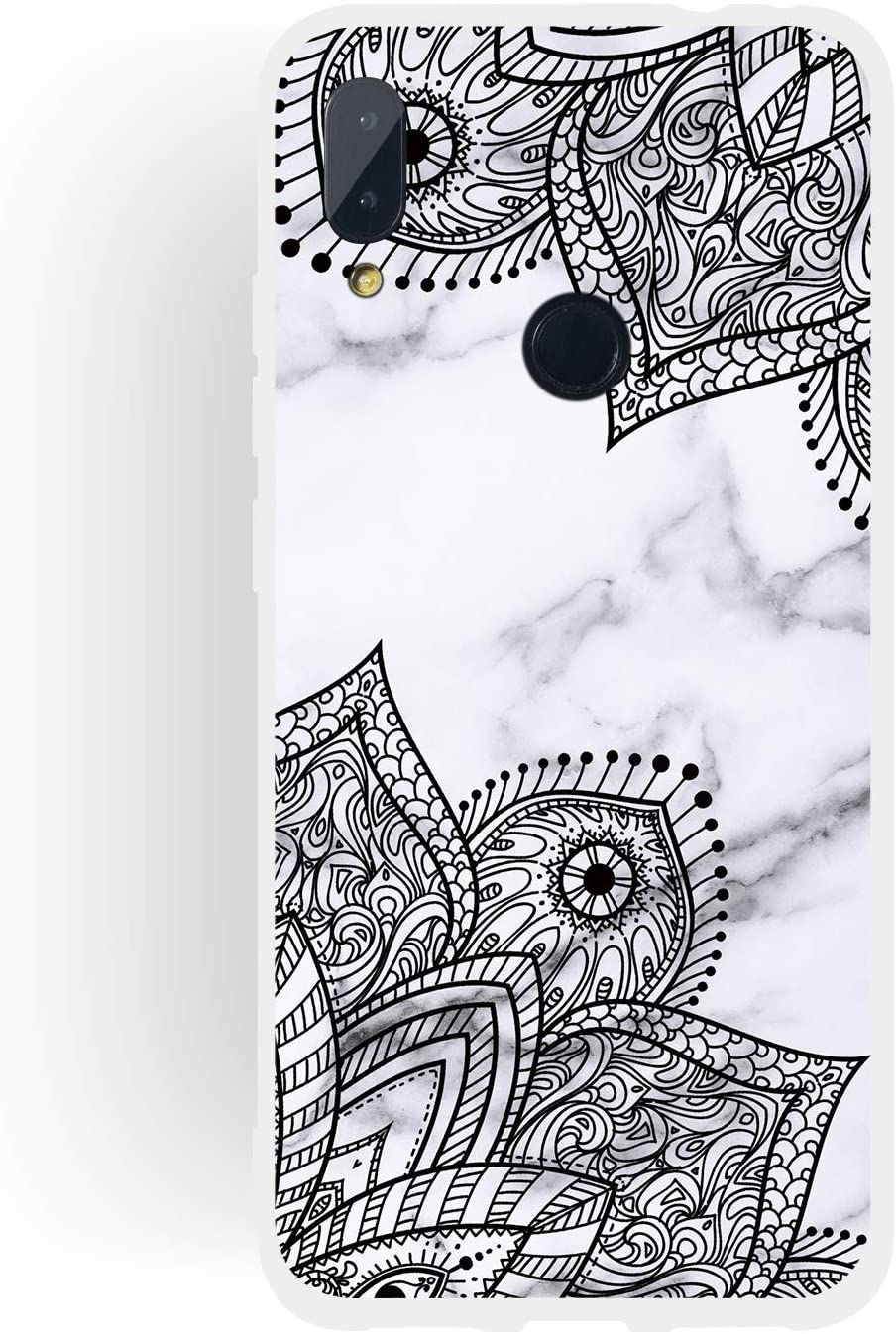 Dyluck Coque Xiaomi Redmi Note 7 Marbre Housse Souple TPU Ultra Fine /Étui Doux Gel Bumper Anti Choc Case Cover pour Xiaomi Redmi Note 7 Coque Redmi Note 7 Silicone Couleur