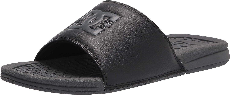 DC NEW Men/'s Bolsa Slider Flip Flops Black BNWT