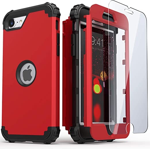 iPhone SE 2020 Case, IDweel Hybrid 3 in 1 Shockproof Slim Heavy Duty Hard PC Cover Soft Silicone Rugged Bumper Full Body Case for Apple iPhone SE 2nd ...