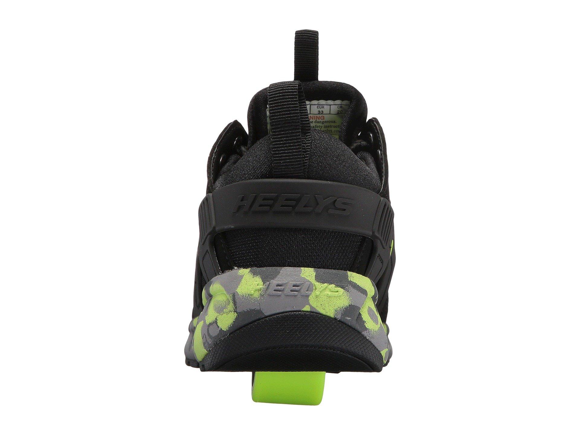 Heelys HE100095H Kid's Force Sneakers, Black/Brightyellow/Confet - 8 by Heelys (Image #3)