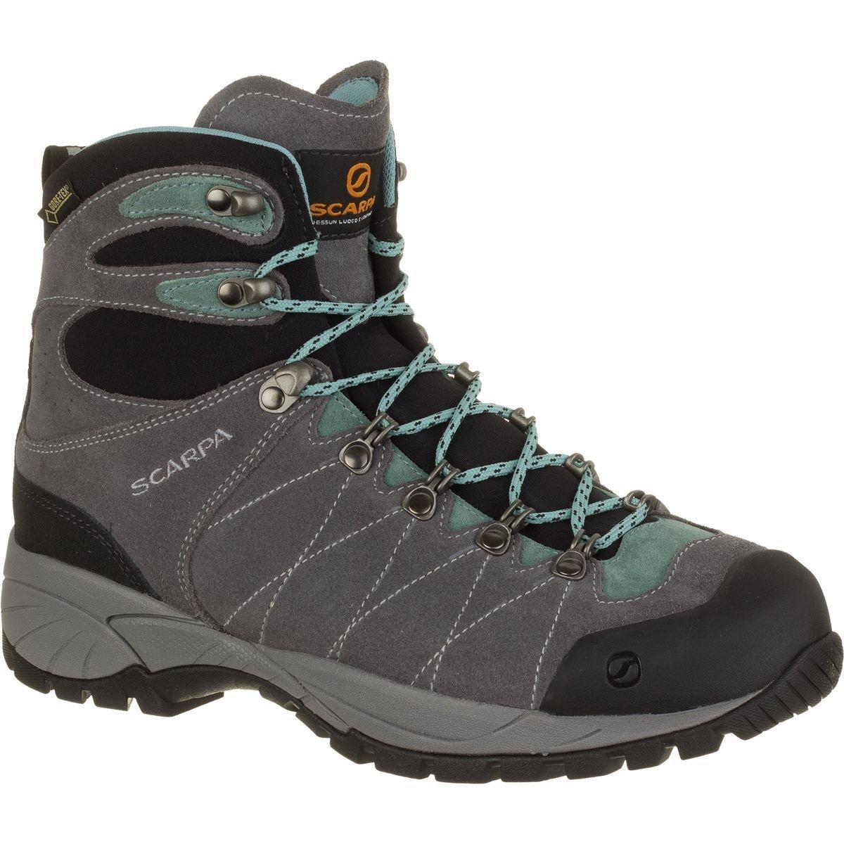 Scarpa Women's R-Evolution Gtx Wmn W Hiking Boot, Smoke/Jade, 42 EU/10 M US by SCARPA