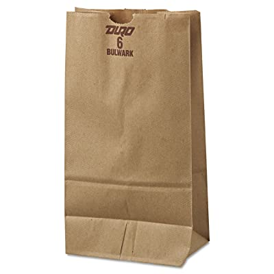 General GX6500#6 Paper Grocery Bag, 50lb Kraft, Extra-Heavy-Duty 6 x 3 5/8 x 11 1/16, 500 bags: Industrial & Scientific