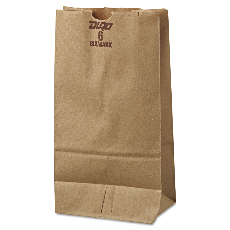 General 6# Paper Bag, 50lb Kraft, Brown, 6 x 3 5/8 x 11 1/16, 500/Pack