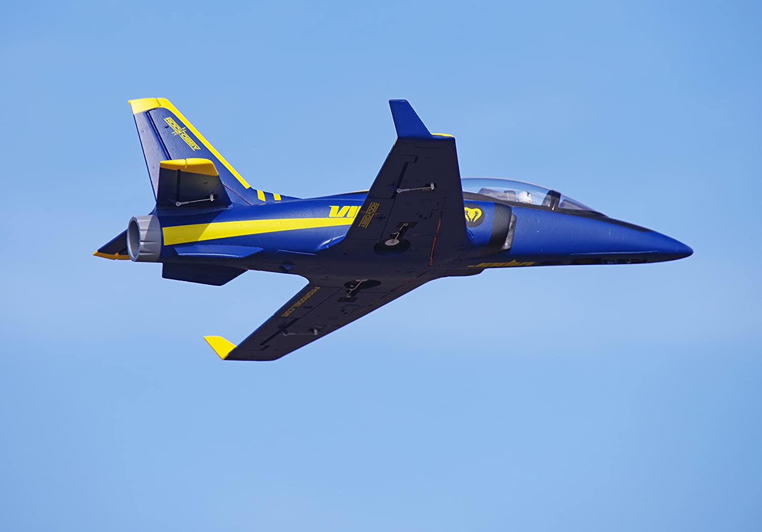 no Radio, Battery, Charger Rochobby 70mm Ducted Fan EDF Super Viper Navy Blue Trainer RC Airplane Jet 6S PNP