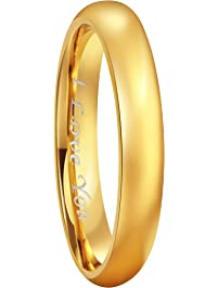 crownal 4mm 6mm 8mm tungsten wedding - Gold Wedding Rings For Men