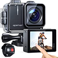 APEMAN Action Camera A100, Echte 4K 50fps WiFi 20MP Touchscreen Unterwasserkamera Digitale wasserdichte 40M Helmkamera…