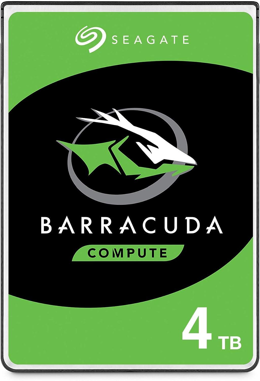 Seagate BarraCuda, 4TB, Disco duro interno, HDD, 2,5 in, SATA 6 Gb/s, 5400 r.p.m., caché de 128 MB para ordenador de sobremesa y PC (ST4000LM024): Seagate: Amazon.es: Informática