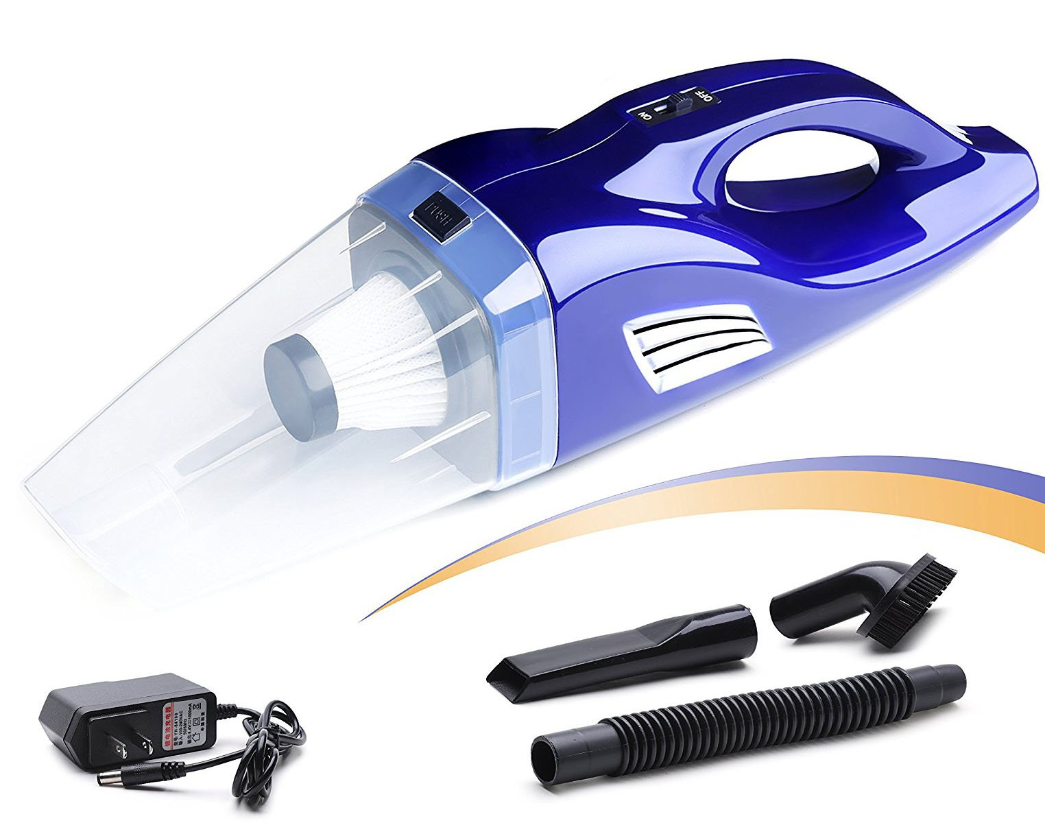 Handheld Vacuum - Portable Cordless Hand Vacuum Cleaner with Rechargeable lithium Battery for Cars, Home, Pet Hairs - Wet & Dry