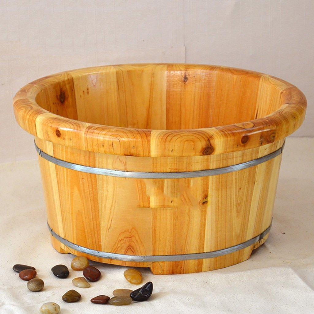XWG Foot Bath Pied Barrel Foot Massage Bassine Bois Foot Bath Bain de Pieds Bois Bassin Bois Barrel Foot Bath Bucket WFFZP