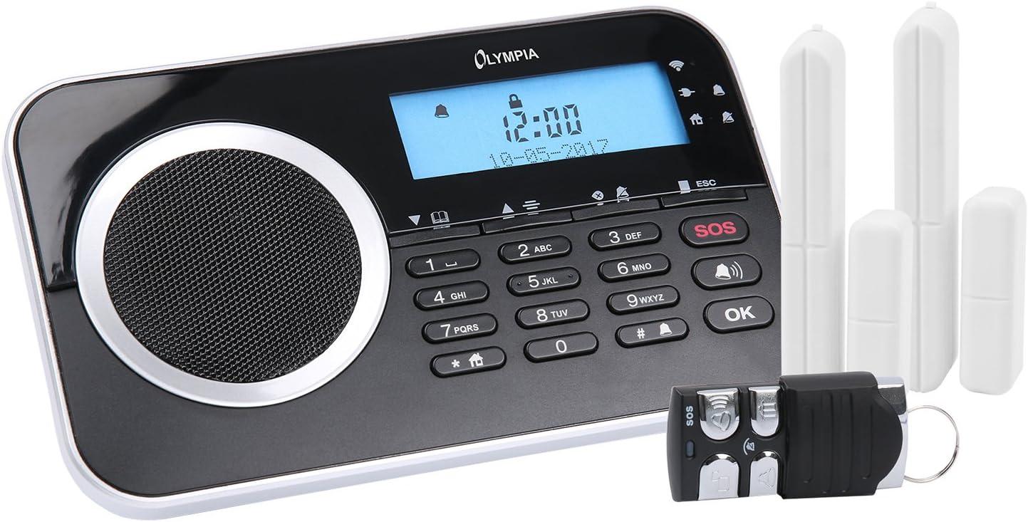 Olympia Protect 9730 Das Neue Drahtlose Gsm Alarmanlagen Set Mit 2 Tür Fensterkontakten Und Fernbedienung Schwarz Baumarkt