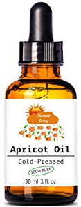 Nature Drop's ORGANIC APRICOT KERNEL OIL 100% Pure/Virgin/Cold Pressed Carrier Oil,For Face, Hair and Body