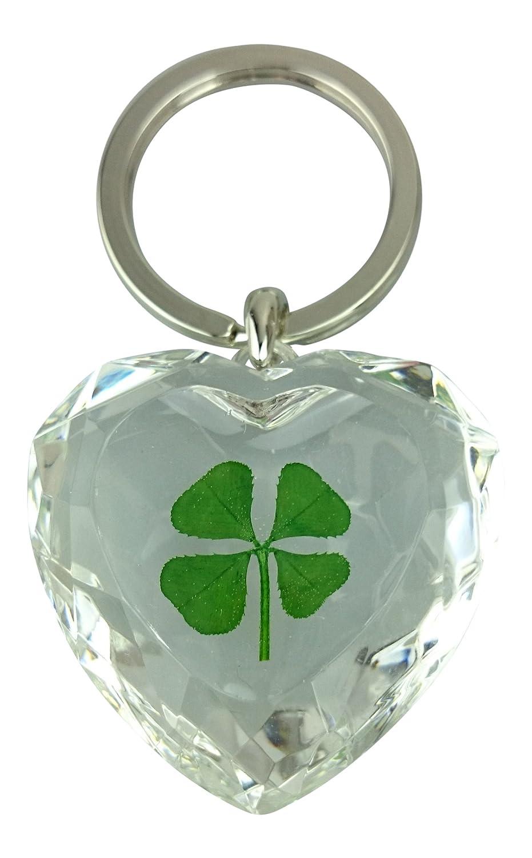 Amazon.com: Lucky Real Four Leaf Clover Clear Crystal ...
