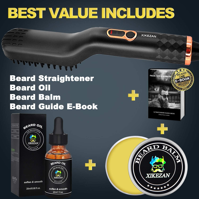 Beard Straightener wFREE Beard Balm  Beard Growth Oil  Beard Guide EBookUPGRADED 3 in 1 Hair