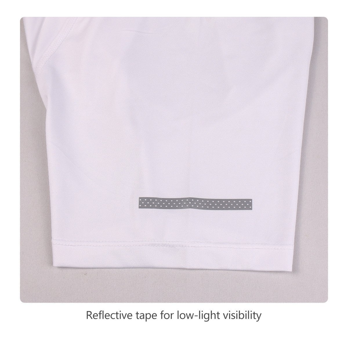 Baleaf Men's Quick Dry Short Sleeve T-Shirt Running Fitness Shirts White Size M by Baleaf (Image #5)