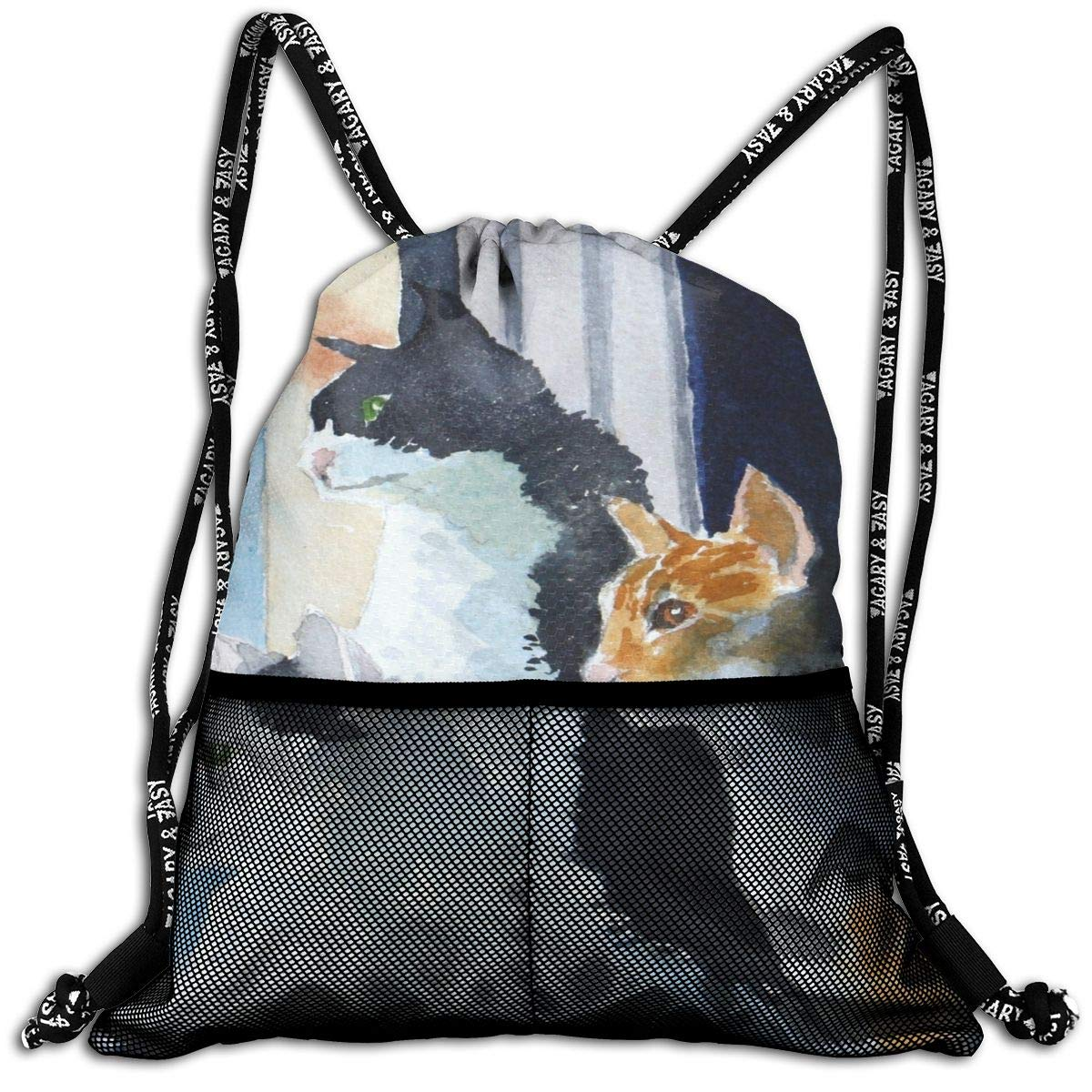 Shannon BrownriceS Cats Unisex Sport Gym Drawstring Backpack Bags With Straps For Outgoing