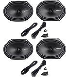 (2) Pairs Rockford Fosgate R168X2 6x8 440 Watt 2-Way Car Audio Speakers