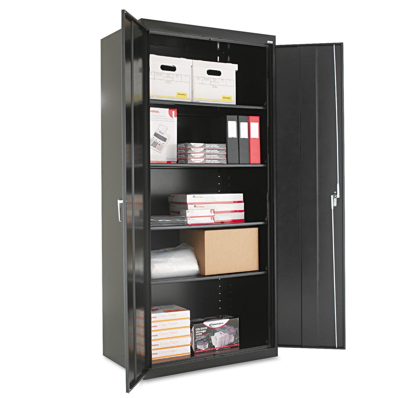 Alera ALECM7824BK Assembled 78'' High Storage Cabinet, w/Adjustable Shelves, 36w x 24d, Black by Alera