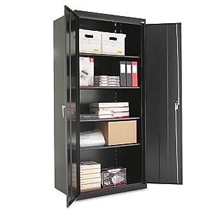 "Alera ALECM7824BK Assembled 78"" High Storage Cabinet, w/Adjustable Shelves, 36w x 24d, Black"