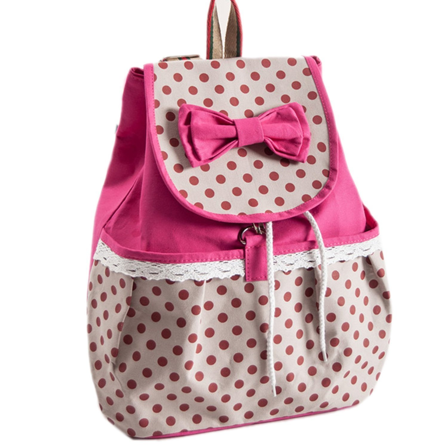 Amazon.com: Phenas? Girl's Lovely Sweet Bowknot Leisure Canvas ...