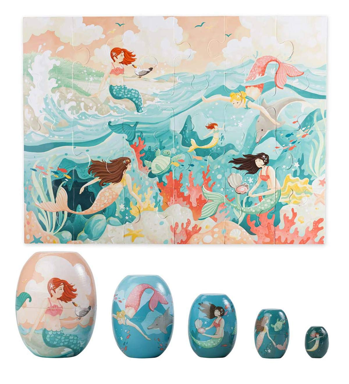 Mermaid Floor Puzzle and Nesting Set Special
