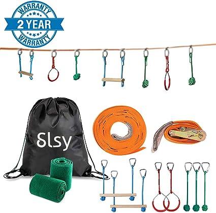 Amazon.com: Slsy Ninja Line Monkey Bar Kit 40 pies, Kids ...