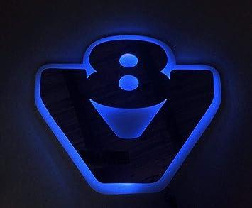 24 V Rgb Led 3d Platte Silber Matt Grau Neon 20 Statische Farben Lichtzeichen V8 Für Scania Trucks Und Trucker Auto