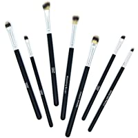 TROP Juego de 7 brochas de maquillaje para aplicar sombra de ojos – con cerdas de pincel veganas extrasuaves.