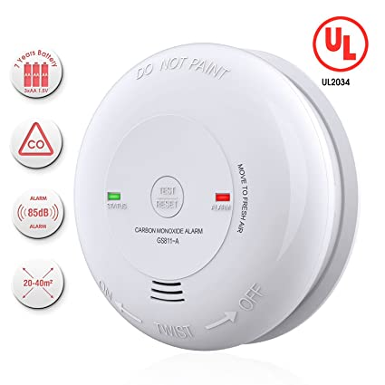Carbon Monoxide Alarm/Detector, Battery-Operated CO Alarm/Detector (Not Hardwired