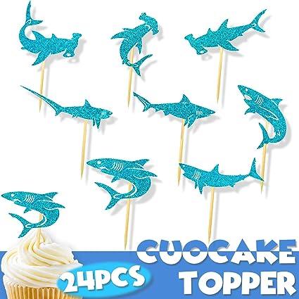 Adorno para cupcakes de tiburón con diseño de animales del ...