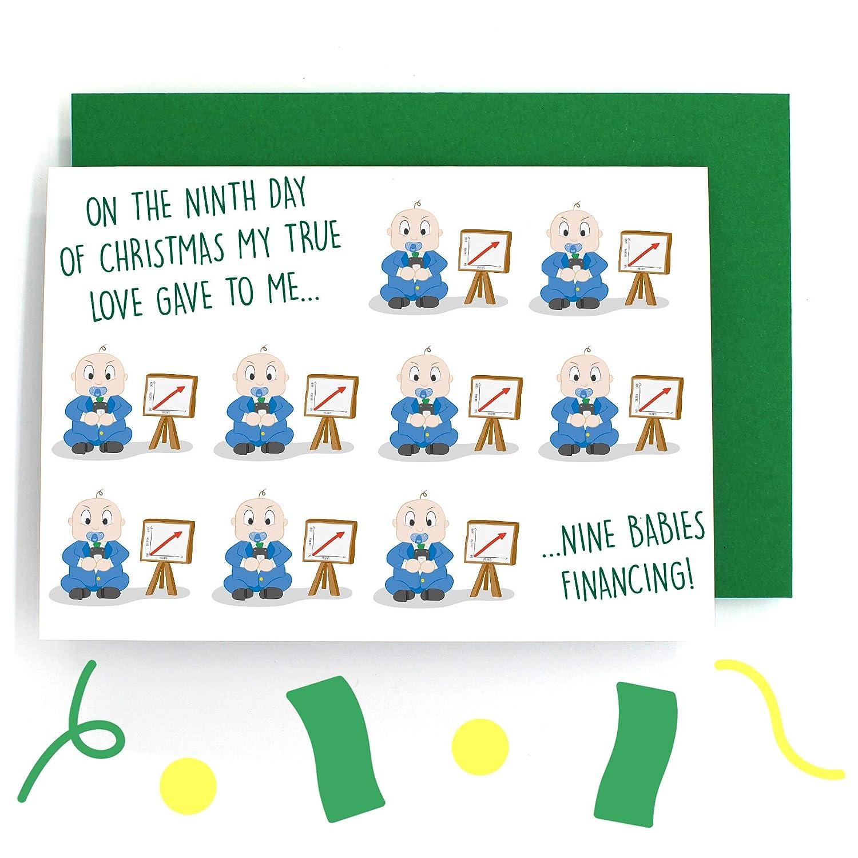 Ninth Day Of Christmas.12 Days Of Christmas Card Nine Ladies Dancing Nine