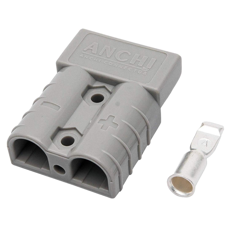 D/émarrage 10 pi/èces Gris Sunwan Connecteur de batterie Borne de c/âble Anderson Connection Plug 50 AMP 600 V