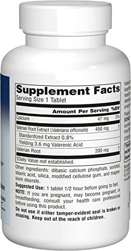 Planetary Herbals Valerian Extract Full Spectrum 650mg, Botanical Support For Restful Sleep