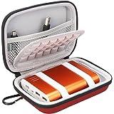BOVKE EVA Shockproof Travel Carrying Storage Case Bag for Jackery Giant+ 12000 mAh 10200mAh, RAVPower 16750mAh/13000mAh, Anker PowerCore 10400 Portable Charger Power Bank External Battery,Red